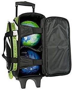 Un sac à roulettes permettent de transporter 2 boules